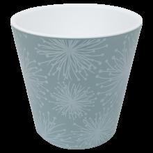 Саксия ДЕКО Etno flour с двойно дъно и декор 13,0х12,5 см гълъбово синя