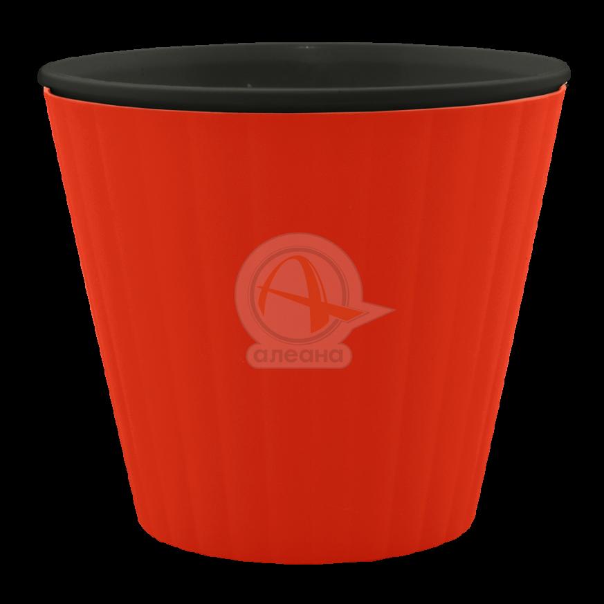 Саксия ИБИС с двойно дъно 13,0х11,2 см червено кадифе/черна