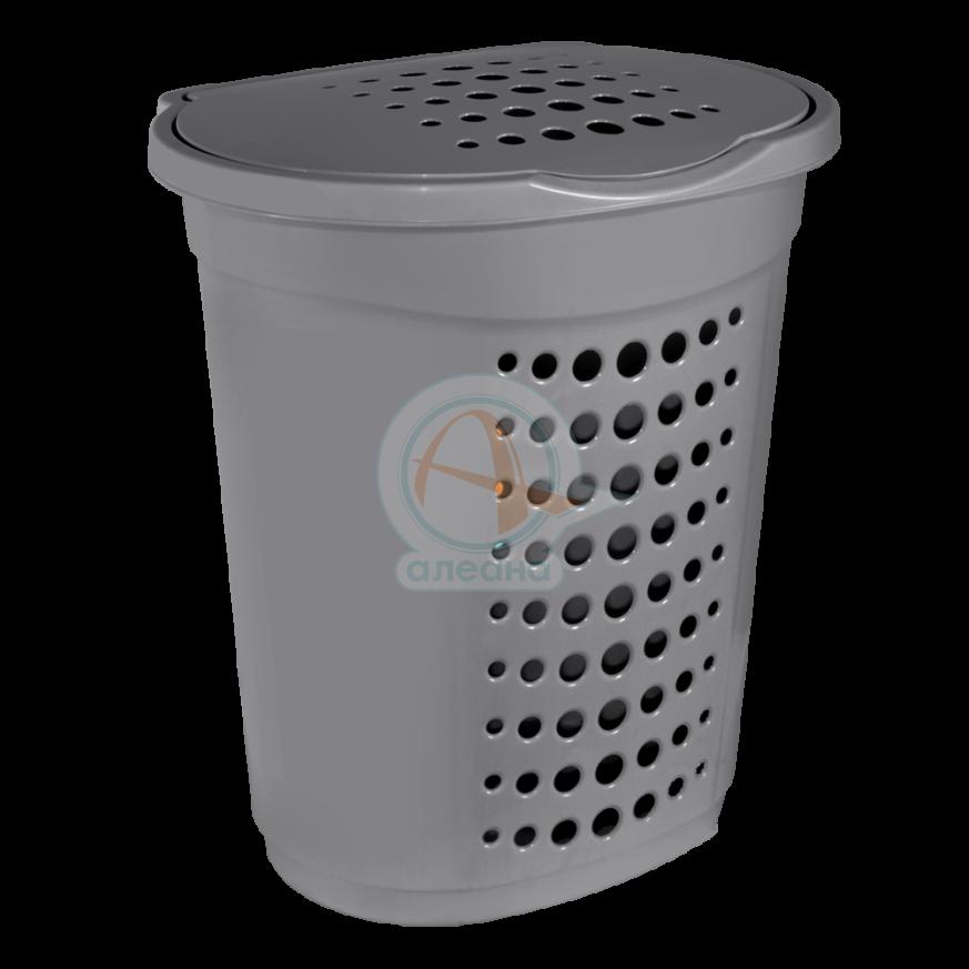 Кош за пране  60 л сив