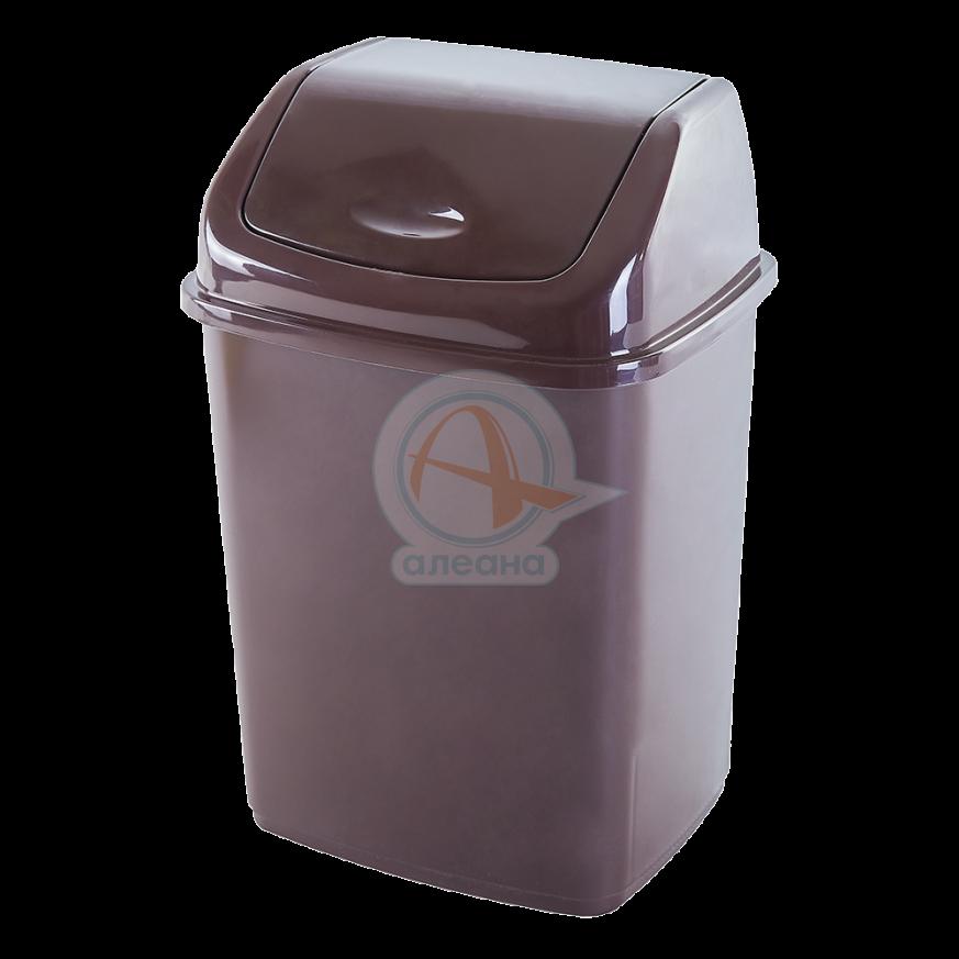 Кош за отпадъци 10 литра кафяв