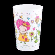 Чаша с декор 0,4 л MAGIC бяла