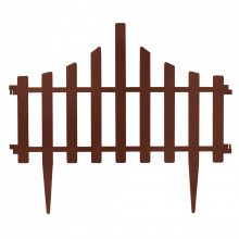 Декоративна ограда за градина кафява