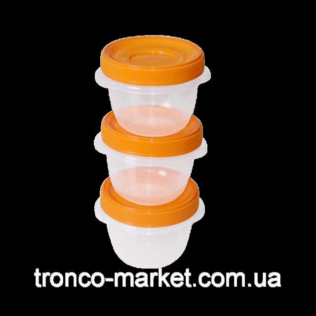 Комплект контейнери за хранителни продукти  ОМЕГА  0,285л. (3 бр)