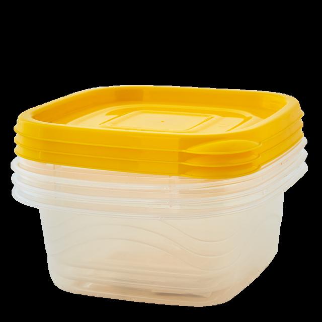 К-т кутии за хран. продукти ОМЕГА 0,45л (3бр.)квадратни