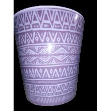 Саксия ДЕКО с двойно дъно и декор 16,0х15,5 см Etno ornament лилава