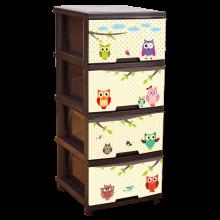 Шкаф с четири чекмеджета СОВИЧКИ / КАФЯВ