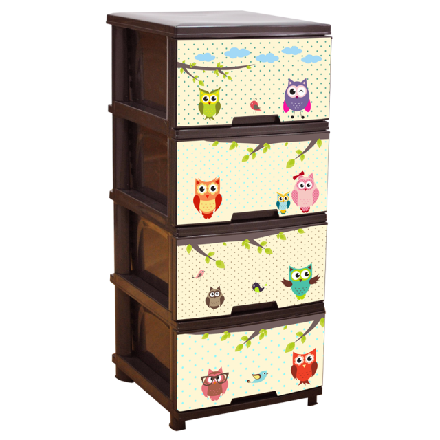 Шкаф с четири чекмеджета СОВИЧКИ