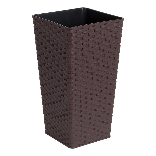 Висока саксия РАТАН квадратна 16,0х16,0х30,0 см