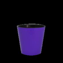 Саксия ДЕКО с двойно дъно 13,0х12,5 см.тъмен люляк/черно
