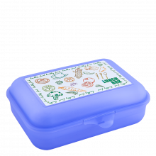 Кутия за сандвичи Lunch лилава прозрачна