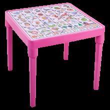 Детска маса Българска азбука розова