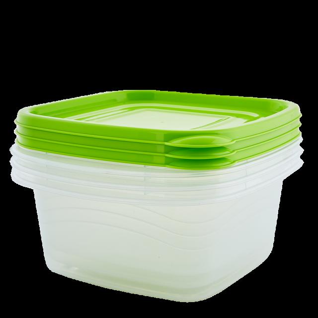 К-т кутии за хран. продукти ОМЕГА 1л(3бр) квадратни