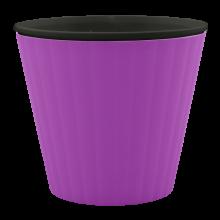 Саксия ИБИС с двойно дъно 13,0х11,2 см тъмен люляк/черна