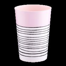 Чаша с декор РАЙЕ 0,4 л светло розова