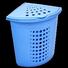 Кош за пране ъглов 45 литра св.син