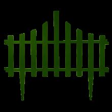 Декоративна ограда за градина зелена
