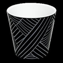 Саксия ДЕКО с двойно дъно и декор 16,0х15,5 см Etno loft черна