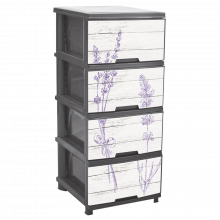 Шкаф с четири чекмеджета ЛАВАНДУЛА сив