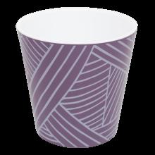 Саксия ДЕКО с двойно дъно и декор 13,0х12,5 см Etno loft лилава