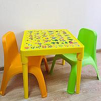 К -т детска маса АНГЛИЙСКА АЗБУКА и две столчета +подарък шейна Ледянки