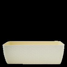 Сандъче РАТАН с двойно дъно 50,0х18,0 см бяла роза