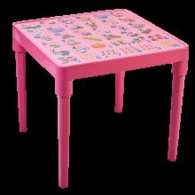 Детска маса Английска азбука розова