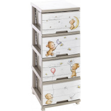 Шкаф с четири чекмеджета и декор