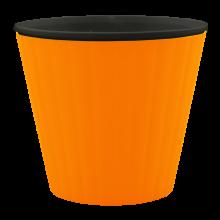 Саксия ИБИС с двойно дъно 15,7х13,0 см св.оранж/черна