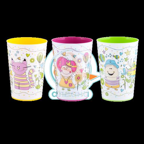 Чаша с декор 0,4 л MAGIC  цветна