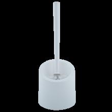 Четка за тоалетна чиния с поставка АКВА бяла