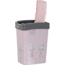 Кош Евро за отпадъци с декор 10 л сив/Момичета