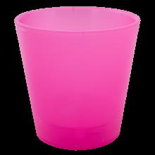 Саксия ДЕКО с двойно дъно 13,0х12,5 см.розова прозрачна