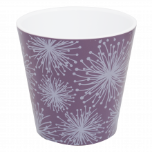 Саксия ДЕКО Etno flour с двойно дъно и декор 13,0х12,5 см лилава