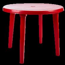 Кръгла маса червена