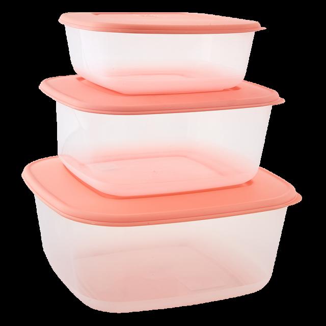 К-т контейнери за хранителни продукти 3 в 1 , квадратни