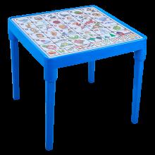 Детска маса Българска азбука синя