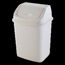 Кош за отпадъци 18 литра бяла роза
