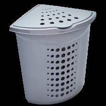 Кош за пране ъглов 45 литра сив