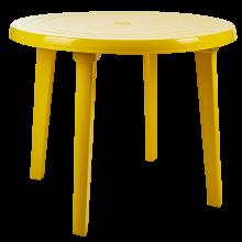 Пластмасова кръгла маса жълта