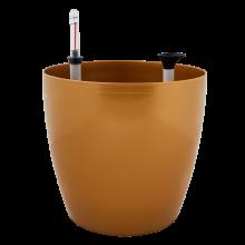 Саксия МАТИЛДА с напоителна с-ма 16*14,5 см бронз