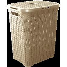 Кош за пране РАТАН 50 л кремав