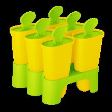 Форми за сладолед с поставка жълти/олива