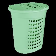 Кош за пране 60 л светло зелен
