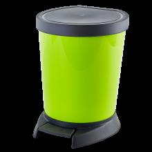 Кош за отпадъци с педал 10 л олива