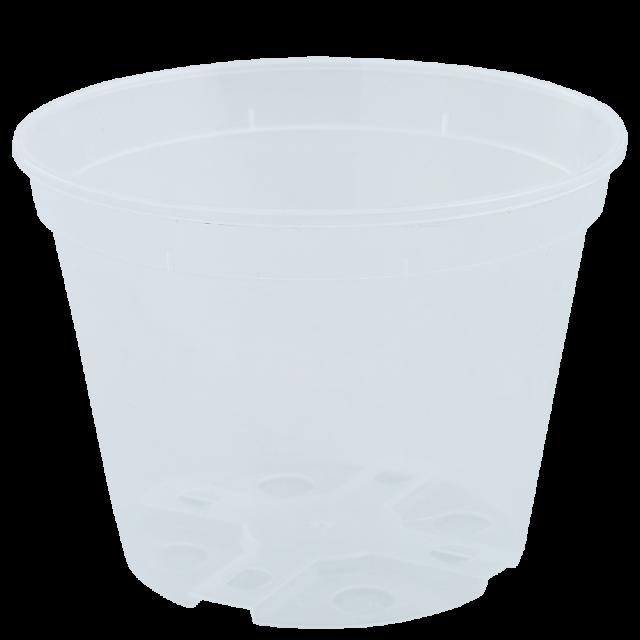 Саксия дренажна 12,0х9,0см, прозрачна