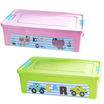 Кутия Smart Box с декор Pet Shop 14л