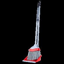 Комплект метла с лопатка ЕВРО  червен / сив