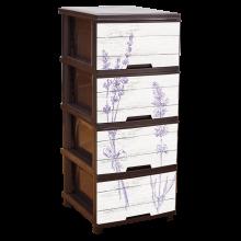 Шкаф с четири чекмеджета ЛАВАНДУЛА кафяв