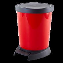 Кош за отпадъци с педал 10 л червен