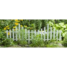 Декоративна ограда за градина бял флок